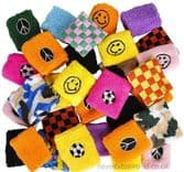 288 Piece Novelty Sweat Wristband Assortment