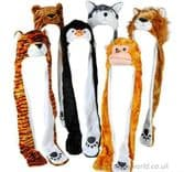 48 Piece Soft Plush Animal Hat & Paws Assortment (85cm)