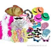 50 Piece Party Fancy Dress & Photo Prop Assortment