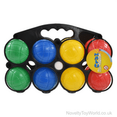 8 Pack Weighted Plastic Boules with Carry Case - Garden Games