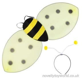 Wholesale   Bumble Bee Fancy Dress Outfit - Headband & Wings (62cm)
