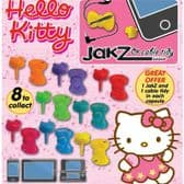 Hello Kitty Jakz Headphone Plug & Cable Tidy - 50mm x 56mm Capsule
