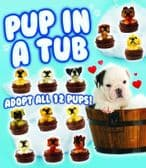 Puppy in a Tub Collectable Toy - 50mm x 56mm Vending Capsule