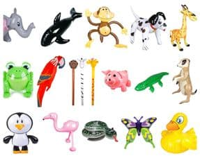 Animal Themed Inflatable Toy Assortment | Bulk Buy Wholesale Novelties UK