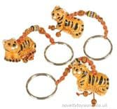 Ceramic Tiger Keyring
