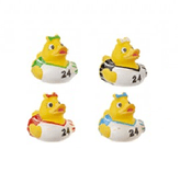 Cheerleader Novelty Rubber Ducks (5cm)