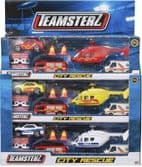 City Rescue Emergency Vehicles - Teamsterz Toy Set