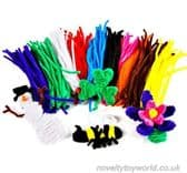 Coloured Pipe Cleaners - Kids' Arts & Craft Supply (26cm)