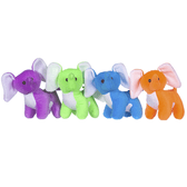 Colourful Elephant Plush Toys - 13cm