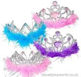 Colourful Feather Princess Tiaras - Assorted Colours