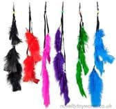 Feather Hair Accessory with Clip - Girl's Fashion (35cm)