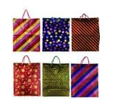Funky Tote Bag Assortment with Strap - 6 Different Designs