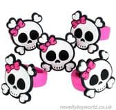 Girly Pirate Skull & Crossbones Novelty Rubber Rings