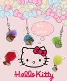 Hello Kitty Pom Pom with Metal Icon - 68mm Round Vending Capsule