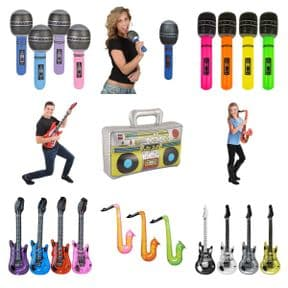 Inflatable Musical Themed & Instruments Assortment | Wholesale Novelties UK