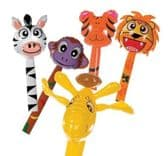 Inflatable Zoo Animal Stick Assortment 145cm - Kids Blow Up Toy
