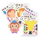 Make Your Own Zoo Animal Stickers (10cm x 15cm)