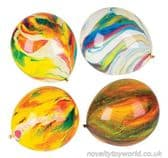 Marble Design Coloured Balloons - Unique Party Supplies (28cm)