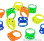Novelty Wiggling Eyes Rings - Various Colours