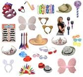Photo Booth Party Props - 50 Piece Mix