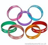 Shiny Metal Novelty Fashion Rings - Various Colours