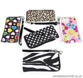 Wristlet Mini Zip Bags - Various Patterns (15cm x 8cm)