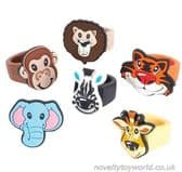 Zoo & Safari Animal Novelty Rubber Rings for Kids