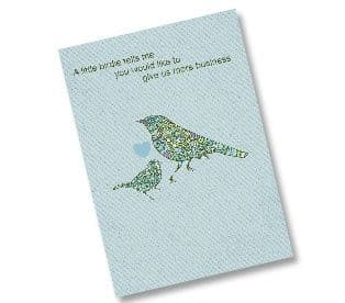 148x148mm Uncoated 350gsm Greeting Cards with Envelopes