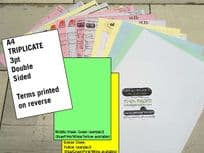 A4 Triplicate - 3 part (3pt) Double Sided