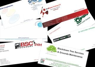 Compliment Slips 100gsm Paper Single Sided