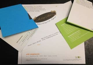 Compliment Slips 160gsm Paper Double Sided