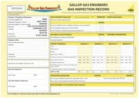 Gas Inspection Record (Personalised) Pad 3