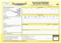 Gas Safety Record (Personalised) Pad 23