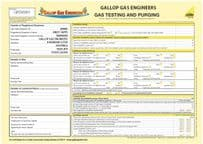 Gas Testing & Purging - Domestic (Personalised) Pad 11