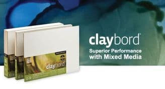 Airbrushing boards and substrates CLAYBORD