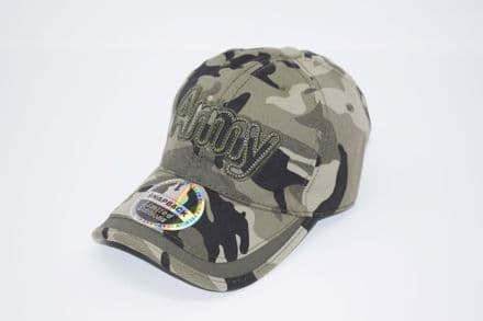 'Army' Camouflage Snapback cap made of 100% cotton, one size fits all adjustable