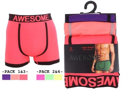 Adults seamless neon colour awesome underwear boxer shorts (BX5707)