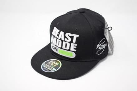 BEAST MODE ON' Black Snapback cap, one size fits all adjustable