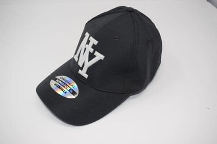 DT3-A-C6956-'NY' Grey Snapback cap made of 100% polyester, one size fits all adjustable