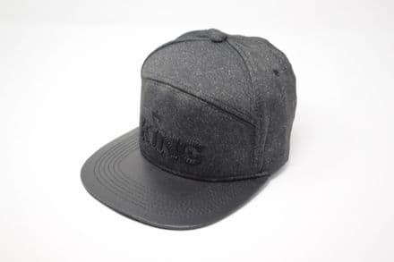 DT6-A-C6637-KING Black snapback cap, one size fits all adjustable