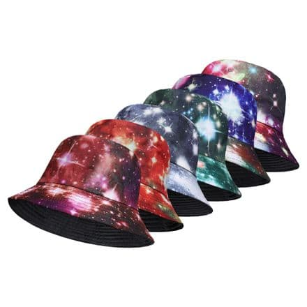galaxy assorted colours bucket hat