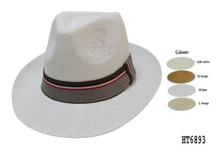 mens and ladies panama fedora hat HT6893