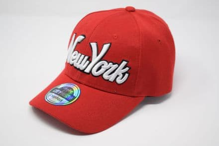 New York  Snapback cap made of 100% Polyester, one size fits all adjustable