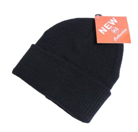 Thermal beanie black hat unisex winter beanie hat