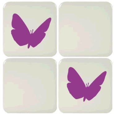 6 Butterfly Tile Stickers