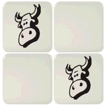 6 Cow Tile Stickers