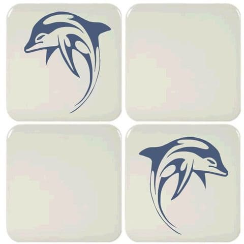 6 Dolphin Tile Stickers