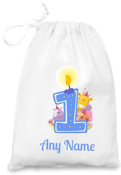 First Birthday (blue) Gift Bag