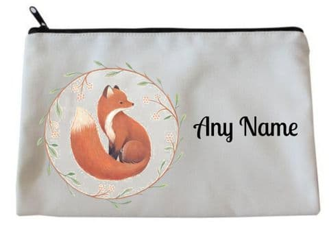Fox Pencil Case/Make Up Bag