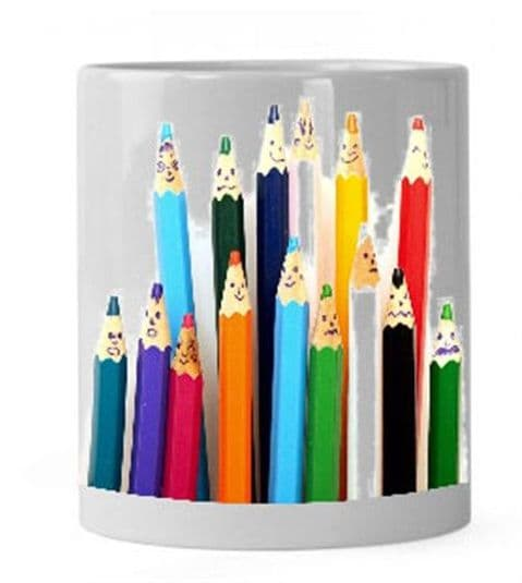 Personalised Funny Faces Pencil Pot